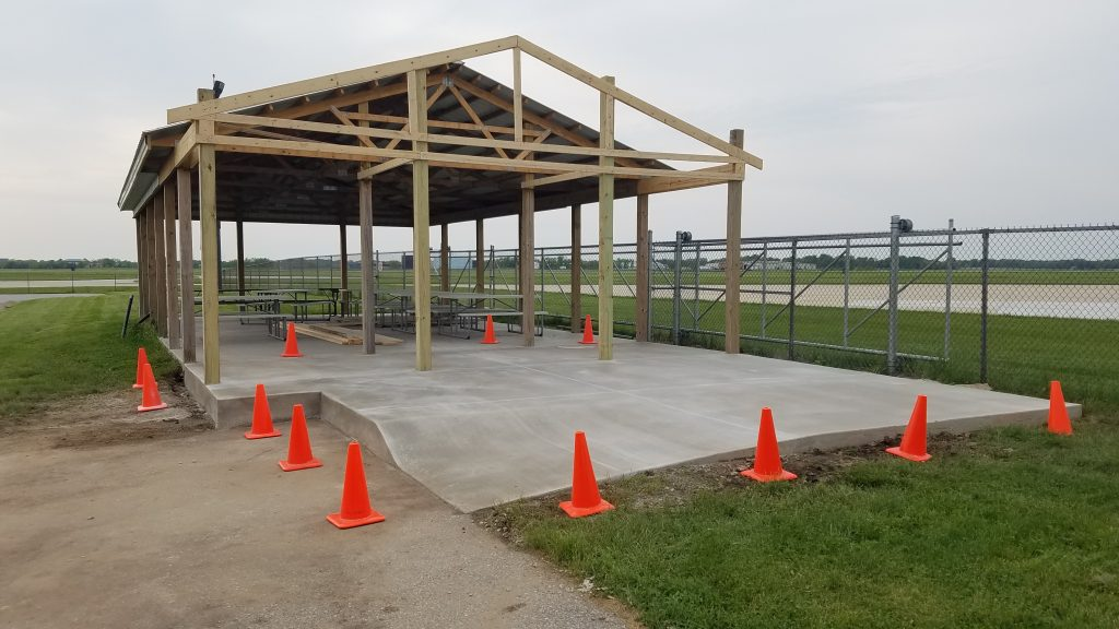Ramp added to the Aviation Pavilion at Porter County Regional Airport.