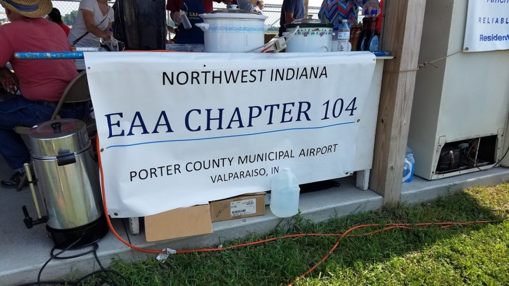 EAA Chapter 104 Banner at the 2018 Food Booth during the Collings Foundation's Valparaiso Tour Stop of the Wings of Freedom Tour