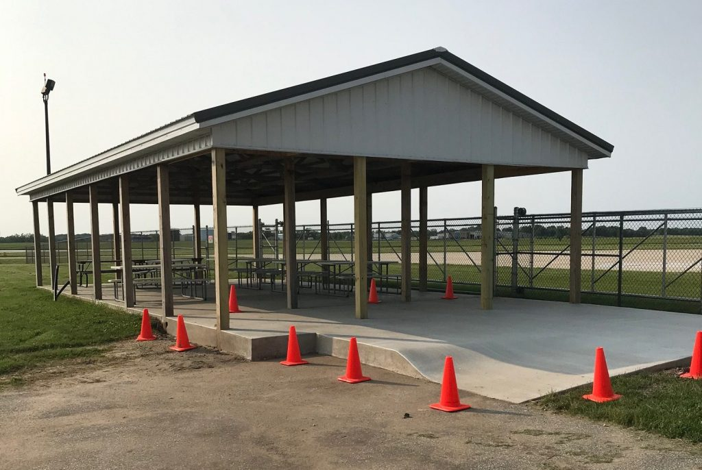 The Aviation Pavilion at Porter County Regional Airport (KVPZ). Construction update picture taken 6/2/2019.